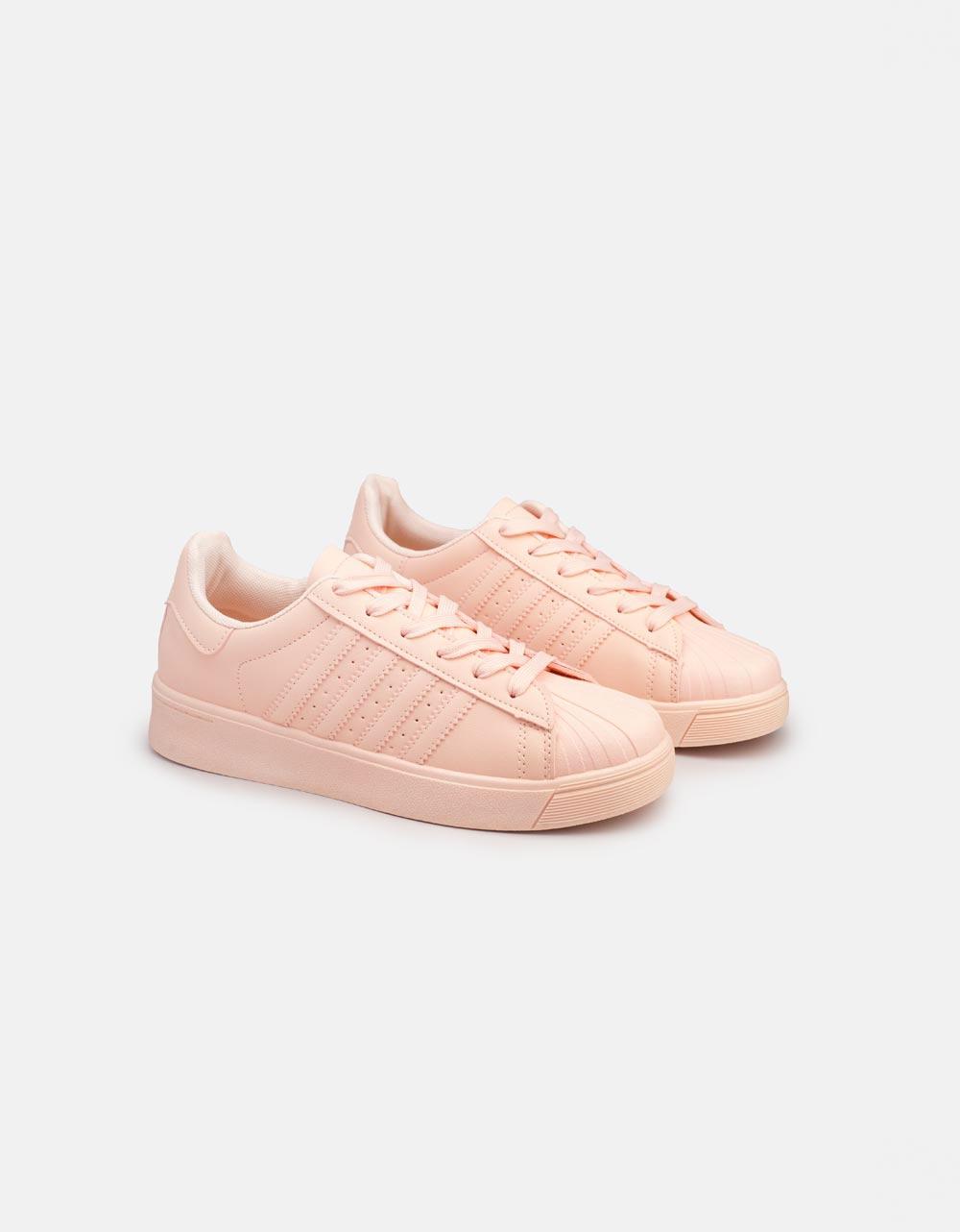 Εικόνα από Γυναικεία sneakers basic μονόχρωμα Ροζ