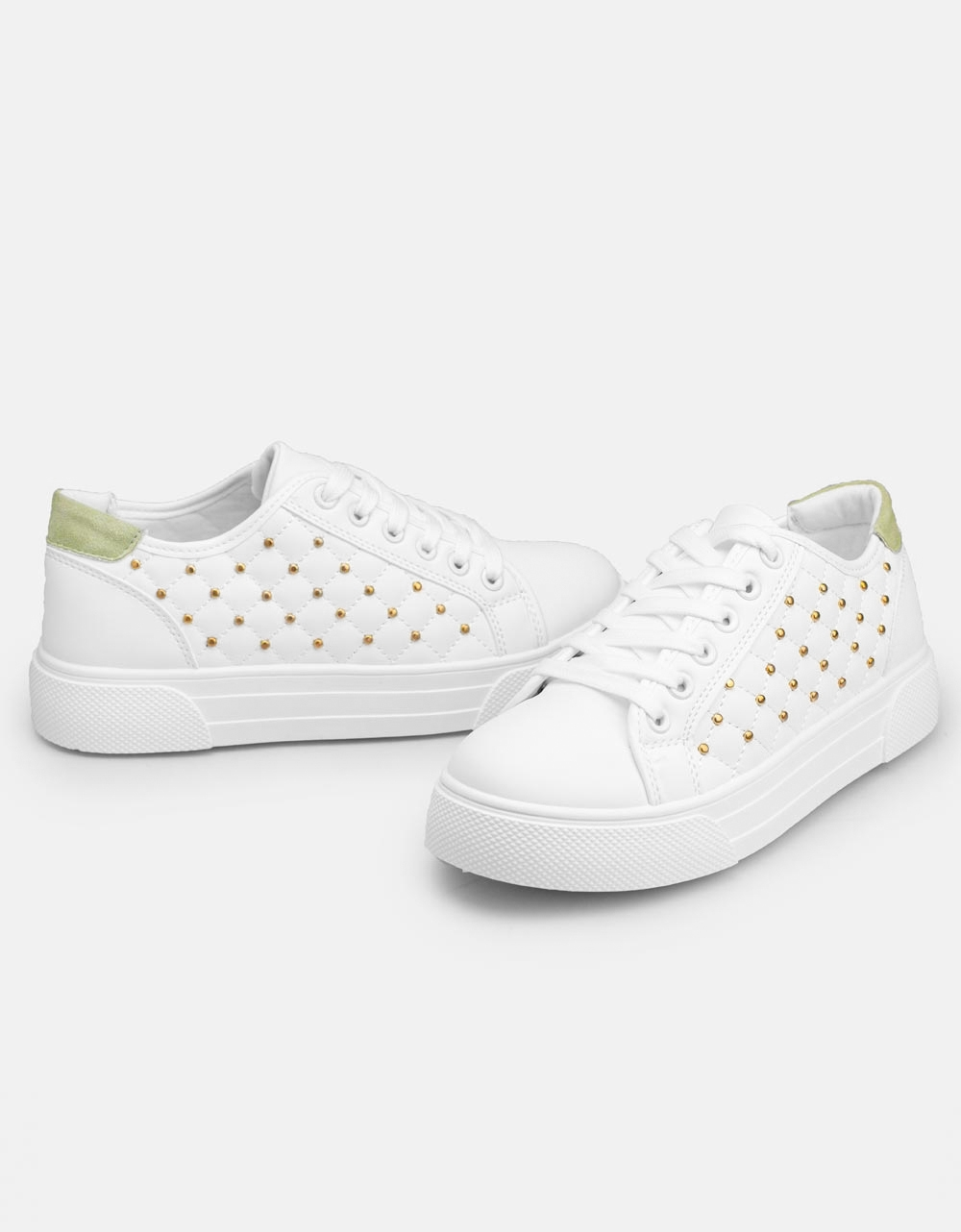 Εικόνα από Γυναικεία sneakers με strass στο πλαινό μέρος Πράσινο