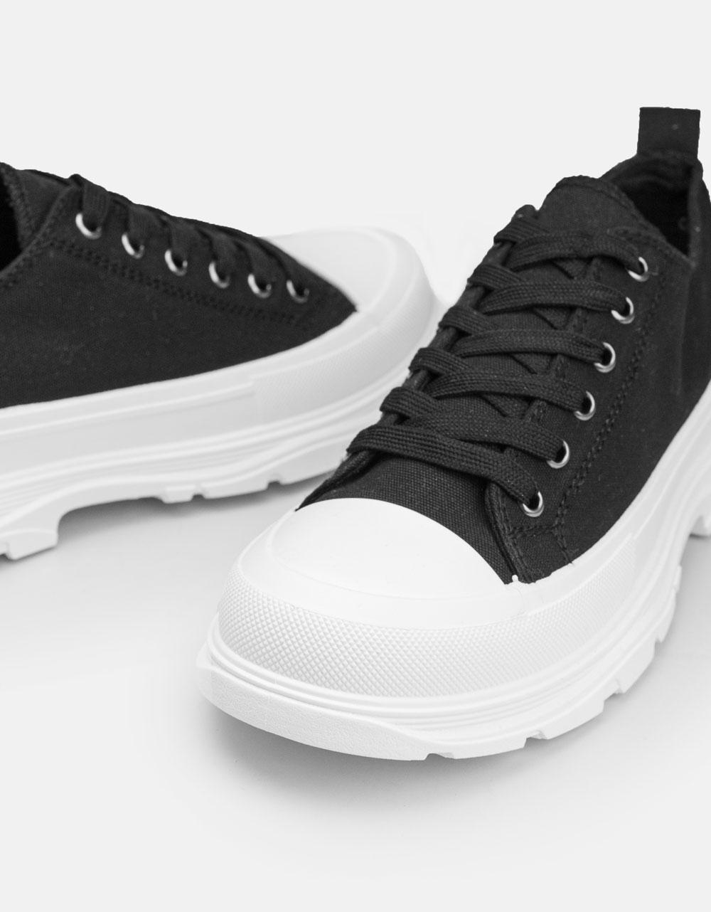 Εικόνα από Γυναικεία sneakers με διχρωμία Μαύρο