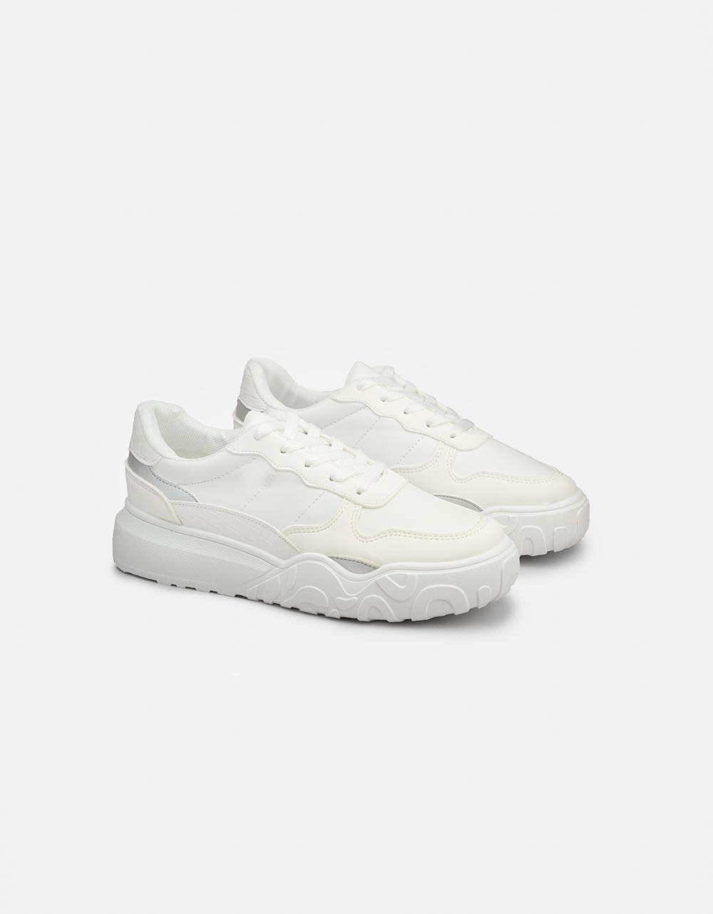 Εικόνα από Γυναικεία sneakers με διάτρητο σχέδιο Λευκό