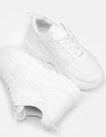Εικόνα από Γυναικεία sneakers μονόχρωμα με λεπτομέρεια Λευκό