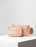 Εικόνα από Γυναικεία τσάντα ώμου & χιαστί με 3 σετ Ροζ