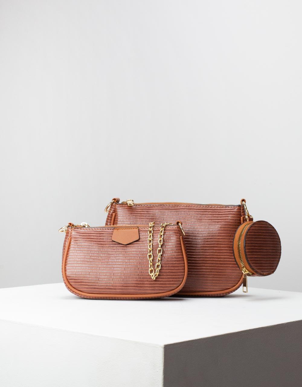Εικόνα από Γυναικεία τσάντα ώμου & χιαστί με 3 σετ Ταμπά