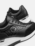 Εικόνα από Γυναικεία sneakers σε συνδυασμούς υλικών Μαύρο