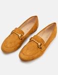 Εικόνα από Γυναικεία loafers suede με διακοσμητική αγκράφα Ταμπά