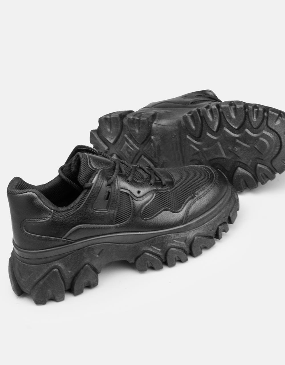 Εικόνα από Γυναικεία sneakers με chunky σόλα Μαύρο