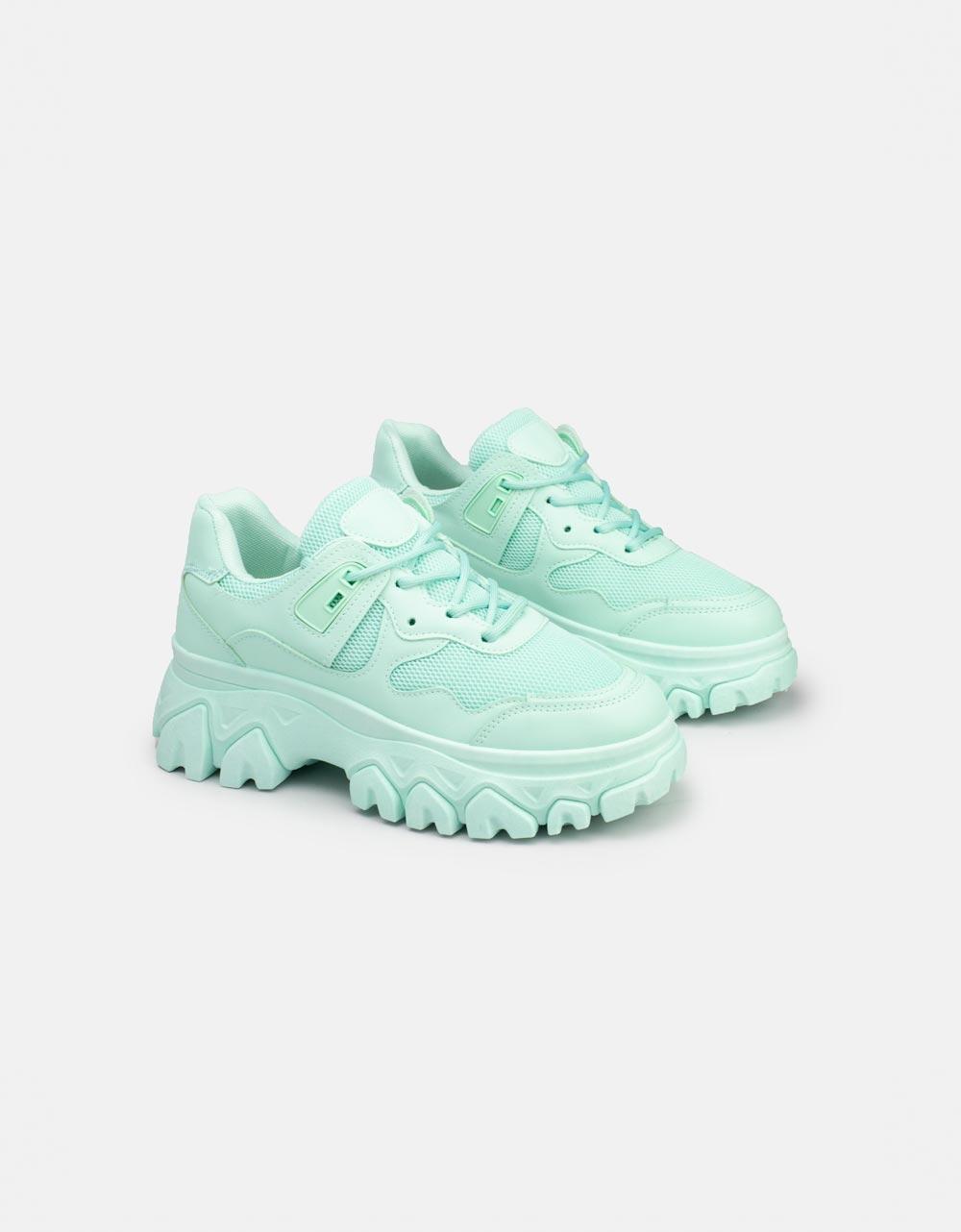 Εικόνα από Γυναικεία sneakers με chunky σόλα Τιρκουάζ