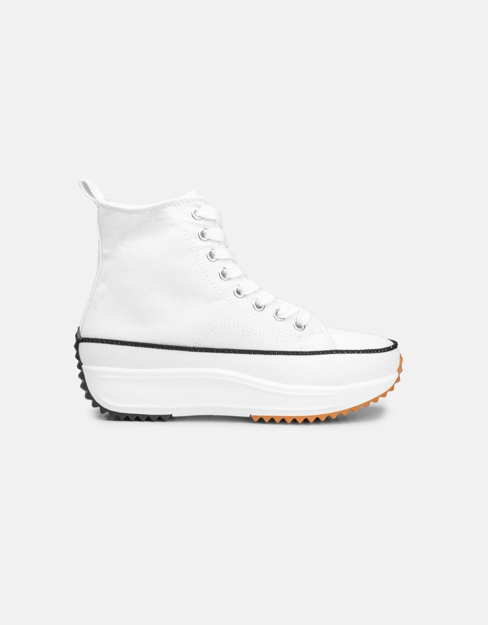 Εικόνα από Γυναικεία sneakers μποτάκια με διακοσμητική ραφή Λευκό