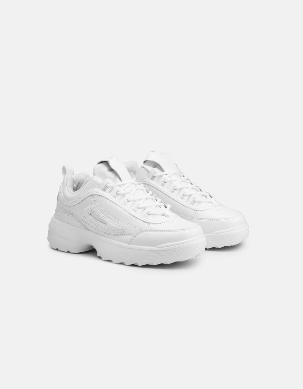 Εικόνα από Γυναικεία sneakers με chunky σόλα Λευκό