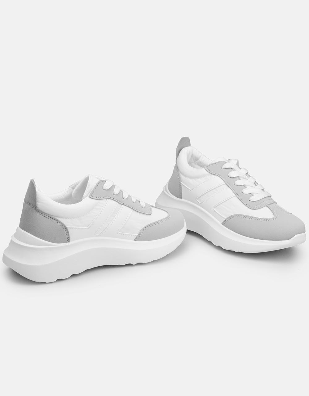 Εικόνα από Γυναικεία sneakers σε συνδυασμούς χρωμάτων Λευκό/Γκρι
