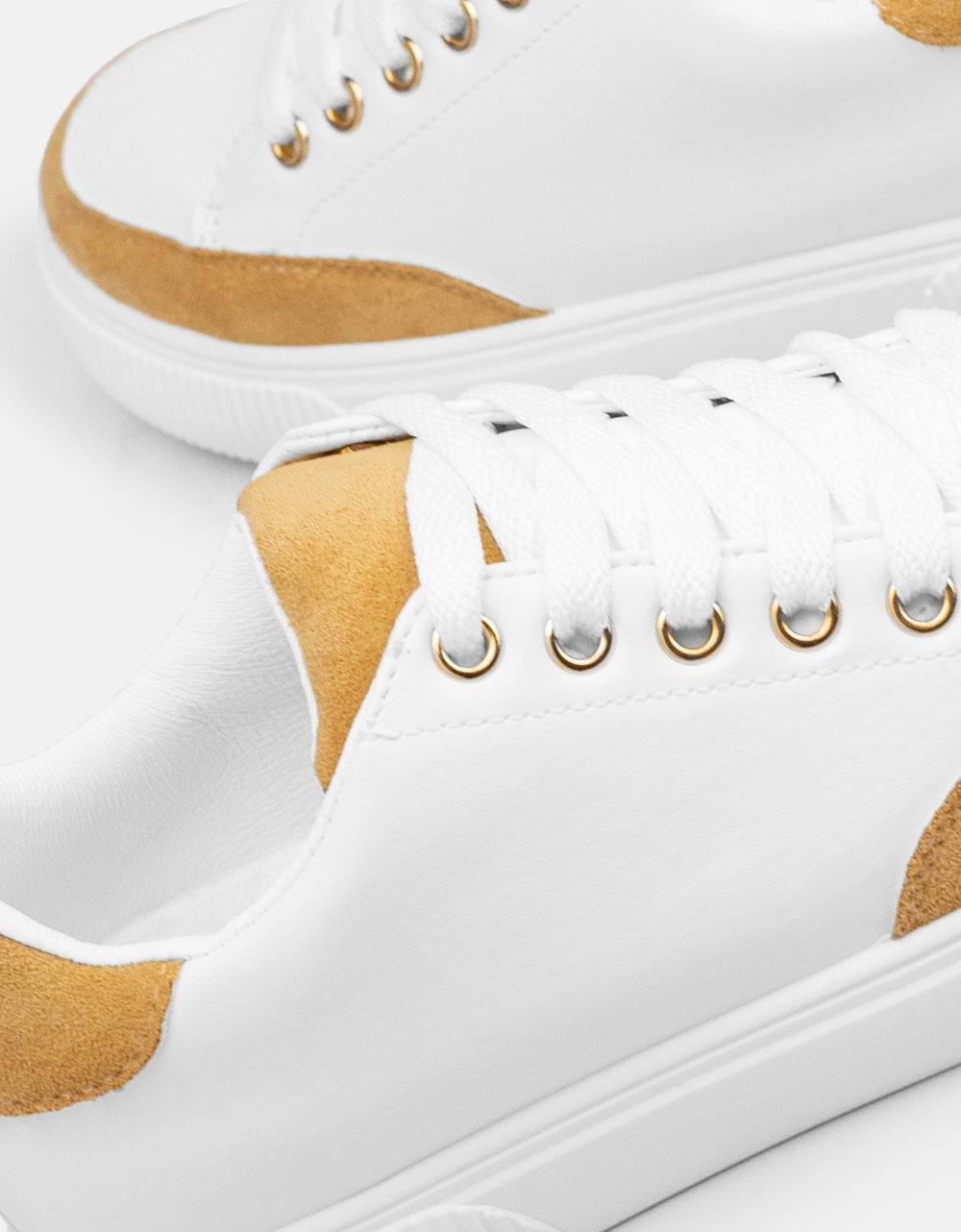Εικόνα από Γυναικεία sneakers με διχρωμία Μπεζ