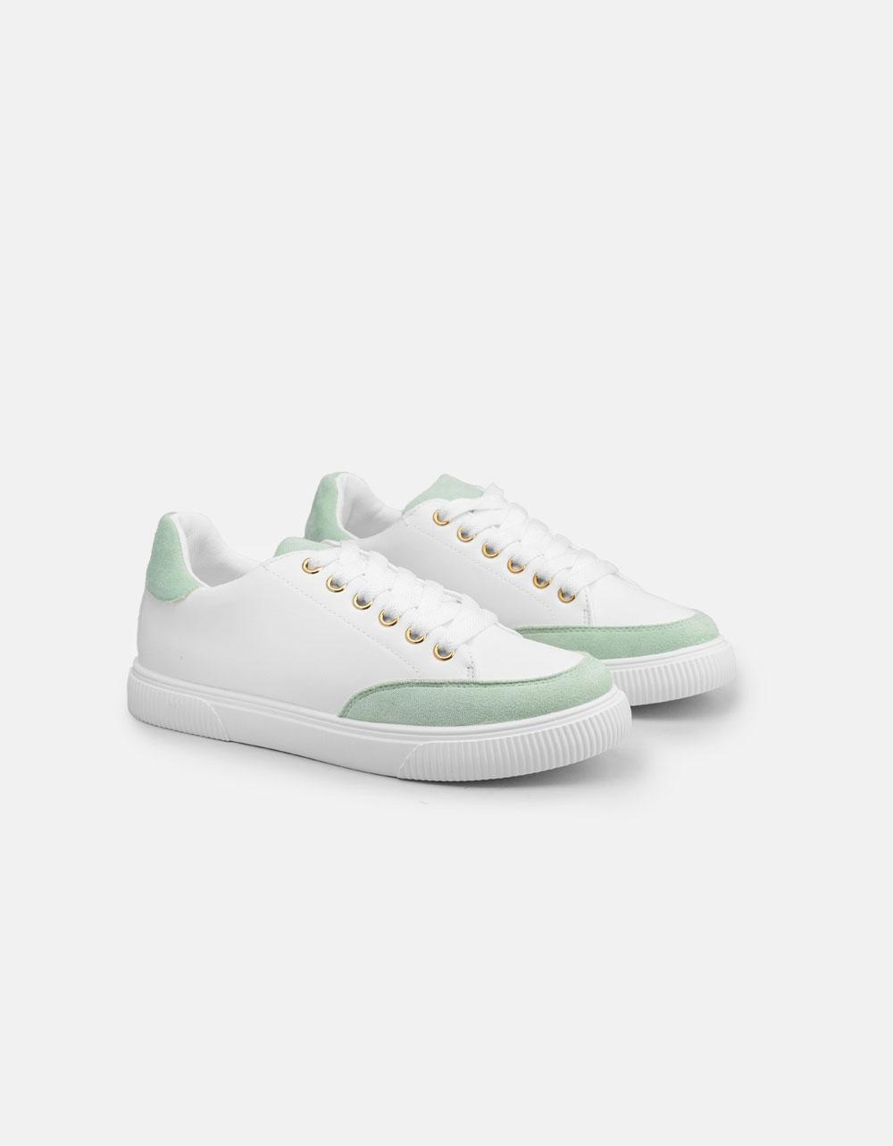 Εικόνα από Γυναικεία sneakers με διχρωμία Πράσινο