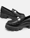 Εικόνα από Γυναικεία loafers με τρακτερωτή σόλα Μαύρο