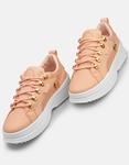 Εικόνα από Γυναικεία sneakers basic με διάτρητο σχέδιο Ροζ