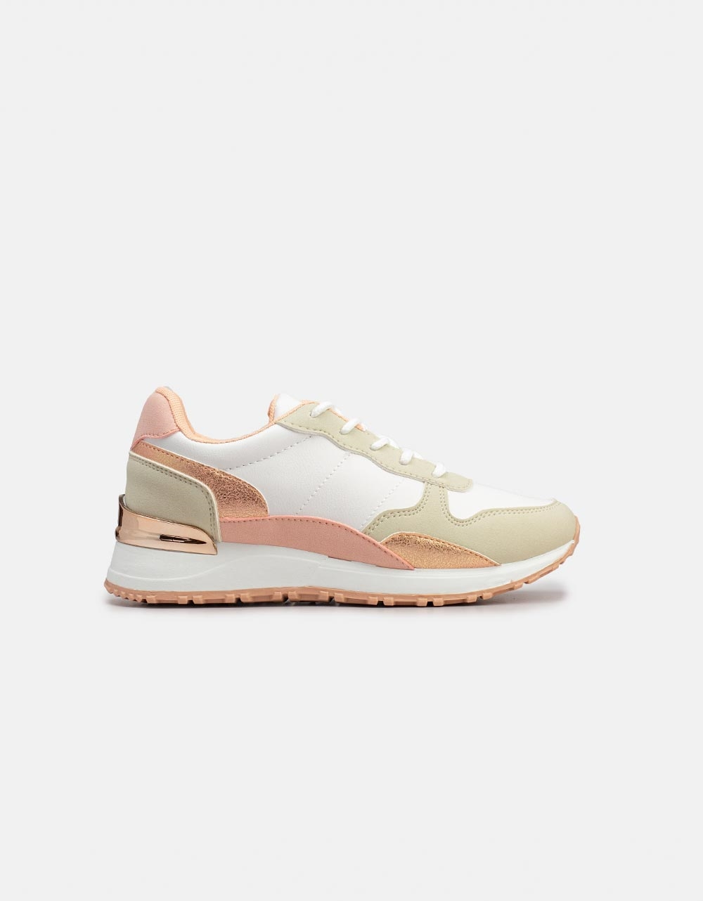 Εικόνα από Γυναικεία sneakers σε συνδυασμούς χρωμάτων Λευκό/Ροζ