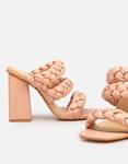 Εικόνα από Γυναικεία mules με περαστά λουράκια Ροζ