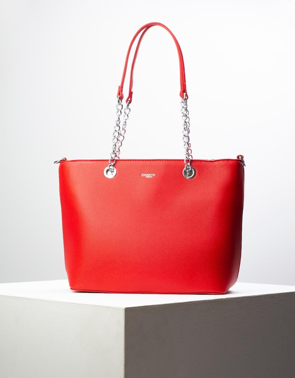 Εικόνα από Γυναικεία τσάντα ώμου με λουράκι χιαστί Κόκκινο