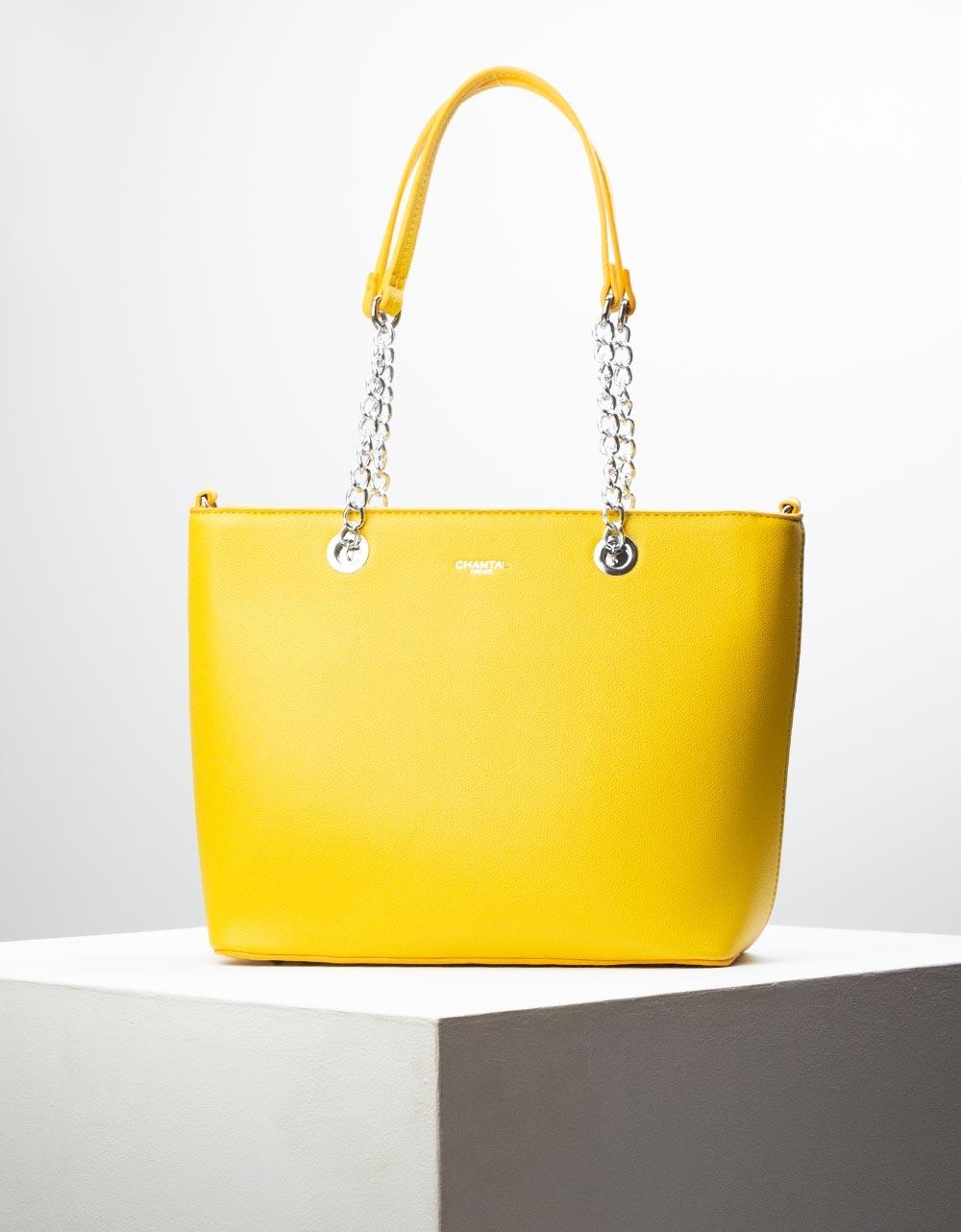 Εικόνα από Γυναικεία τσάντα ώμου με λουράκι χιαστί Κίτρινο