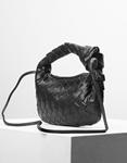 Εικόνα από Γυναικεία τσάντα ώμου & χιαστί με ανάγλυφο pattern Μαύρο