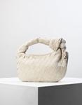 Εικόνα από Γυναικεία τσάντα ώμου & χιαστί με ανάγλυφο pattern Μπεζ