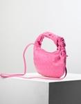 Εικόνα από Γυναικεία τσάντα ώμου & χιαστί με ανάγλυφο pattern Ροζ