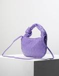 Εικόνα από Γυναικεία τσάντα ώμου & χιαστί με ανάγλυφο pattern Μωβ