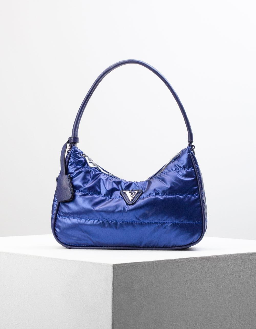 Εικόνα από Γυναικεία τσάντα ώμου & χιαστί καπιτονέ Μπλε