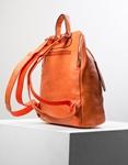 Εικόνα από Γυναικεία σακίδια πλάτης μονόχρωμα Πορτοκαλί