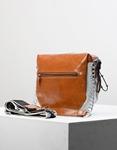 Εικόνα από Γυναικεία τσάντα ώμου & χιαστί σε συνδιασμό υλικών Γκρι