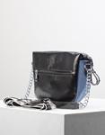 Εικόνα από Γυναικεία τσάντα ώμου & χιαστί σε συνδυασμό υλικών Μπλε