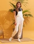 Εικόνα από Γυναικεία ολόσωμη φόρμα αμάνικη Λευκό