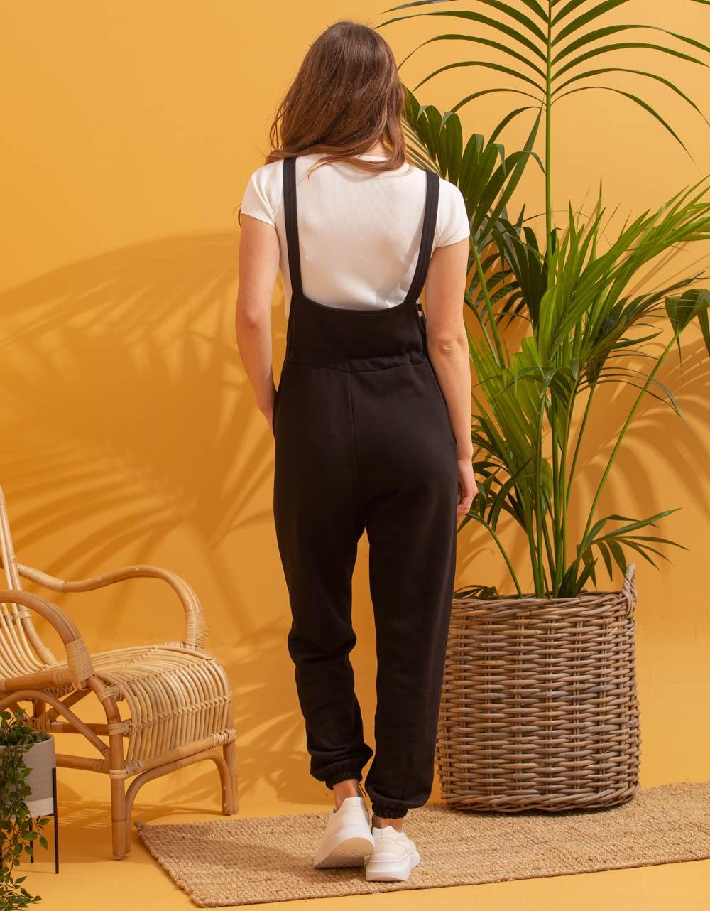 Εικόνα από Γυναικεία ολόσωμη φόρμα αμάνικη Μαύρο