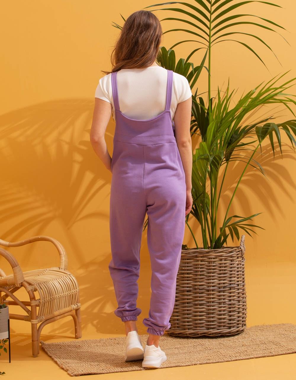 Εικόνα από Γυναικεία ολόσωμη φόρμα αμάνικη Μωβ