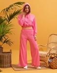 Εικόνα από Γυναικείο παντελόνι φόρμα καμπάνα Ροζ
