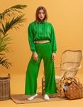 Εικόνα από Γυναικείο παντελόνι φόρμα καμπάνα Πράσινο