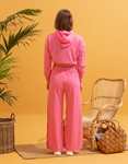 Εικόνα από Γυναικείο cropped φούτερ με λάστιχο Ροζ