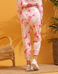 Εικόνα από  Γυναικεία σετ ρούχων παντελόνι & μπλουζάκι tie dye Ροζ