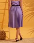 Εικόνα από Γυναικεία φούστα πλισέ Μωβ