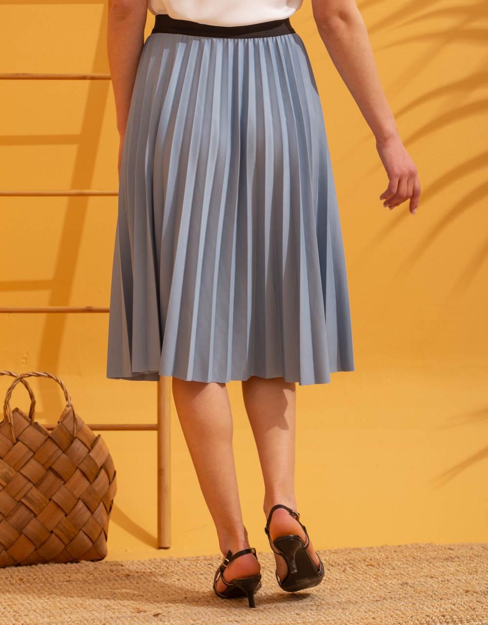 Εικόνα από Γυναικεία φούστα πλισέ Σιέλ