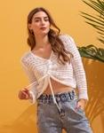 Εικόνα από Γυναικεία μπλούζα με δέσιμο Λευκό
