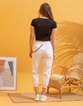 Εικόνα από Γυναικεία μπλούζα cropped μονόχρωμη Μαύρο