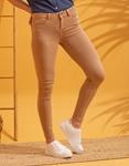 Εικόνα από Γυναικείo παντελόνι Skinny ψηλόμεσο Κάμελ