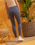 Εικόνα από Γυναικείo παντελόνι Skinny ψηλόμεσο Μπλε