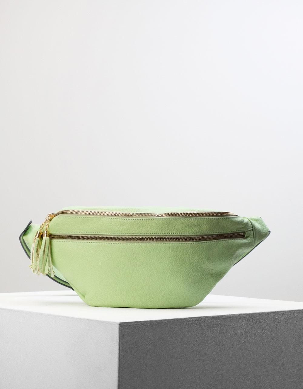 Εικόνα από Γυναικεία τσάντα μέσης με φερμουάρ Πράσινο
