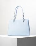 Εικόνα από Γυναικεία τσάντα ώμου με λουράκι χιαστί Σιέλ