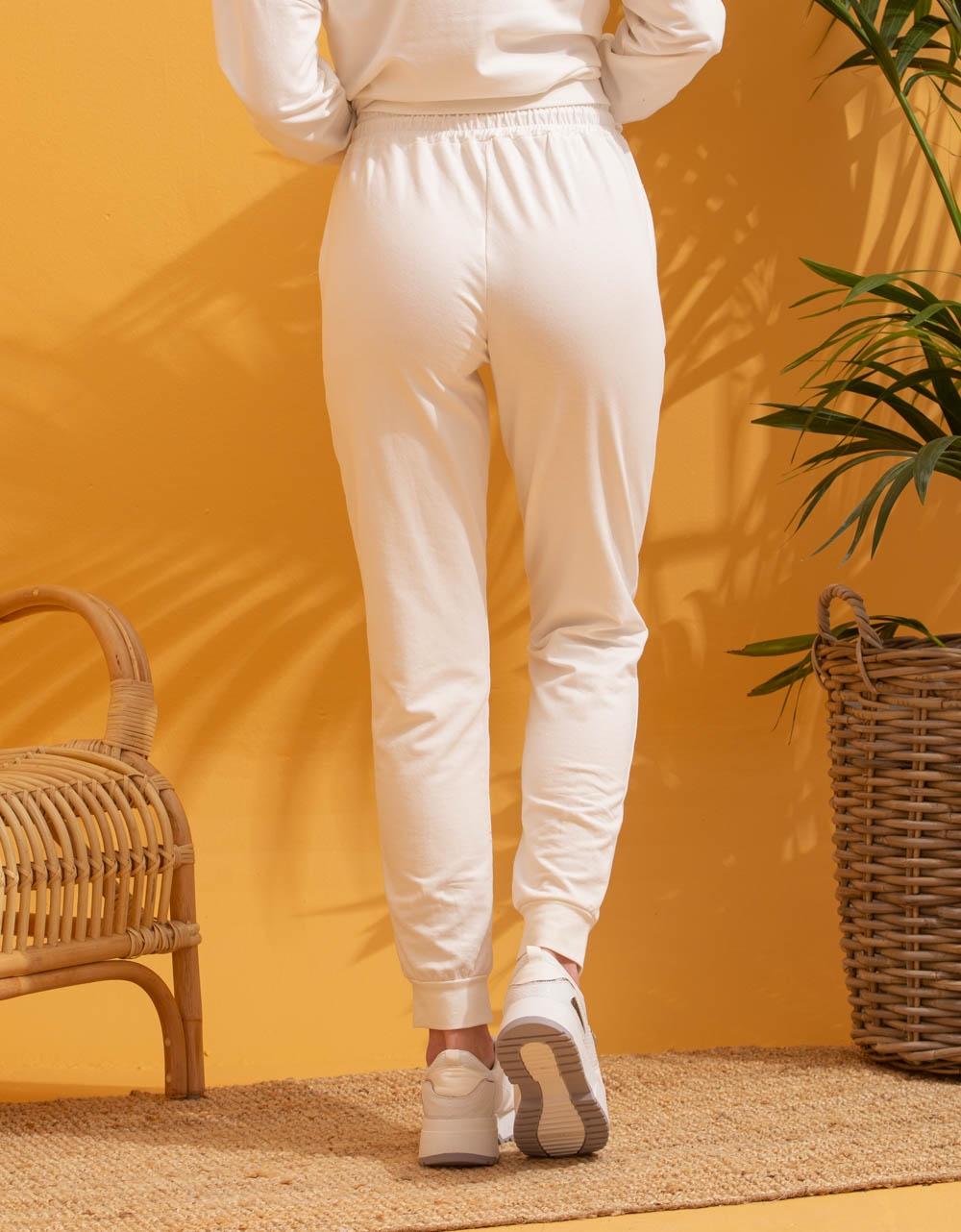 Εικόνα από Γυναικεία σετ με φούτερ Λευκό