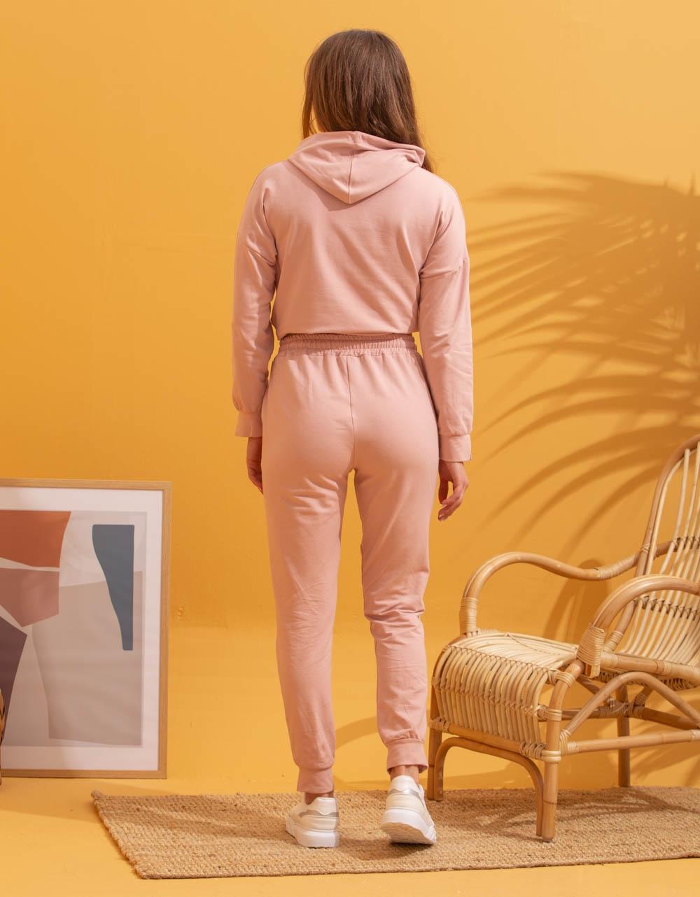 Εικόνα από Γυναικεία σετ με φούτερ Ροζ