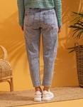 Εικόνα από Γυναικείο παντελόνι με λάστιχο στη μέση Τζιν