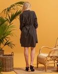 Εικόνα από Γυναικείο φόρεμα με ζωνάκι Μαύρο