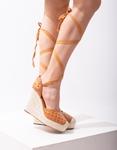 Εικόνα από Γυναικείες πλατφόρμες lace up με καπιτονέ σχέδιο Ταμπά